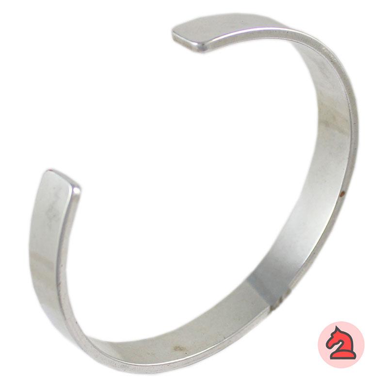 Brazalete para personalizar 10mm - Venta en bolsa de 5uds. Brazalete de latón con baño plata y oro mate. Ancho de 10mm
