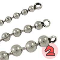 Cadena bolas con anilla en los extremos - Venta en bolsa de de 5 trozos