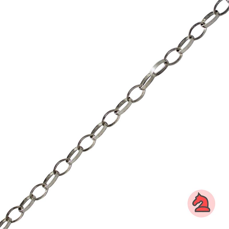 Cadena latón eslabones ovalados - hilo cuadrado - Rollo de 5 metros