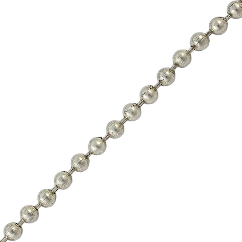 Cadena de bolas medianas - Venta en rollos de 5 metrosTamaño de bolas 6 mm