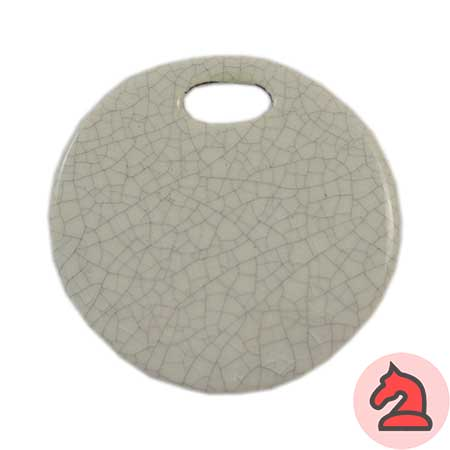 Colgante cerámica blanco - Venta en bolsa de 5 unidadesTamaño aprox 46mmAgujero 11X5mm