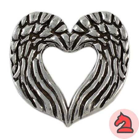 Colgante corazón enamorado - Venta en bolsa de 5 unidadesTamaño aprox 52X52mmMaterial de zamak con 5 micras de plata