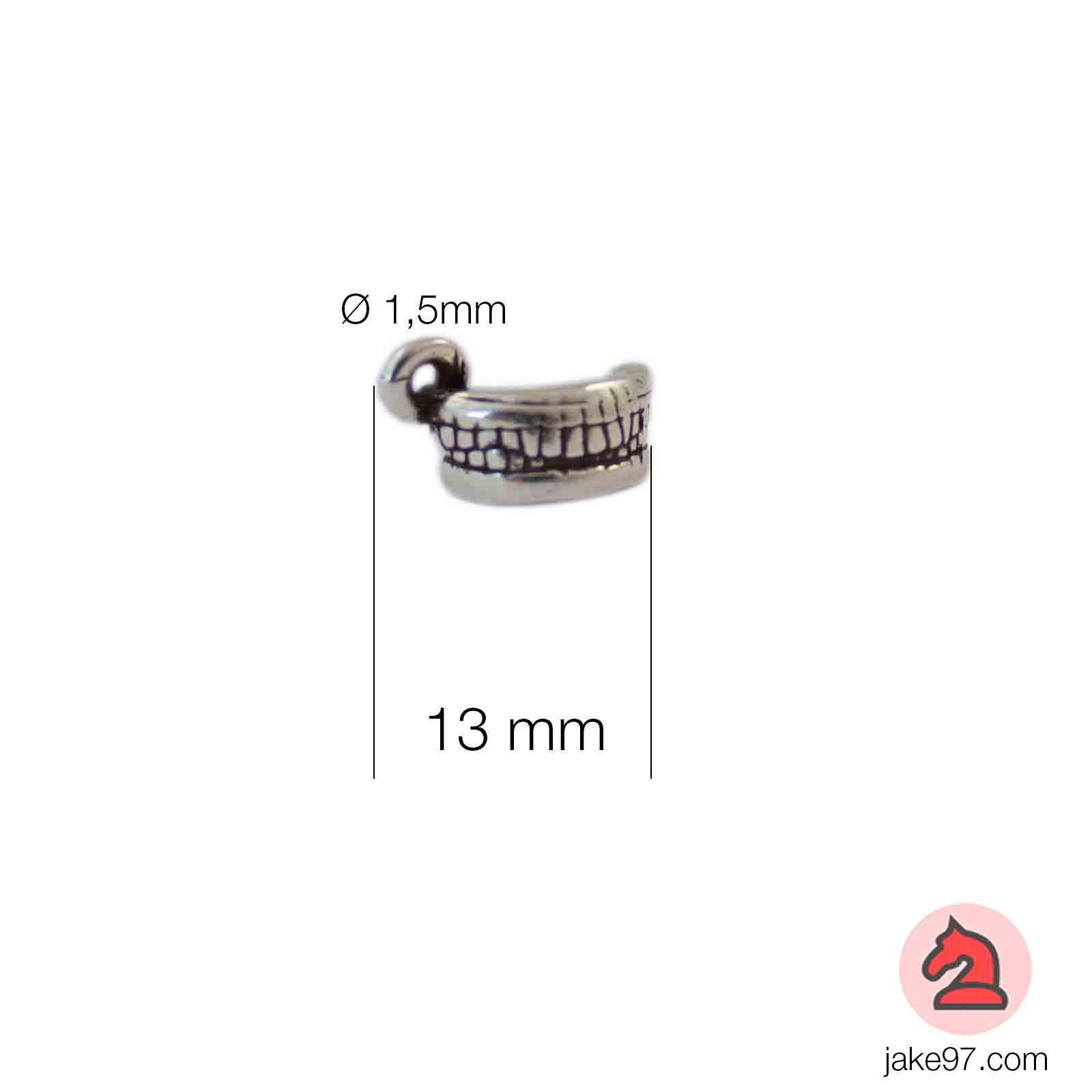 Charm dentadura - Venta en bolsa de 30 unidadesTamaño aproximado 13mm, anilla 1.5mm