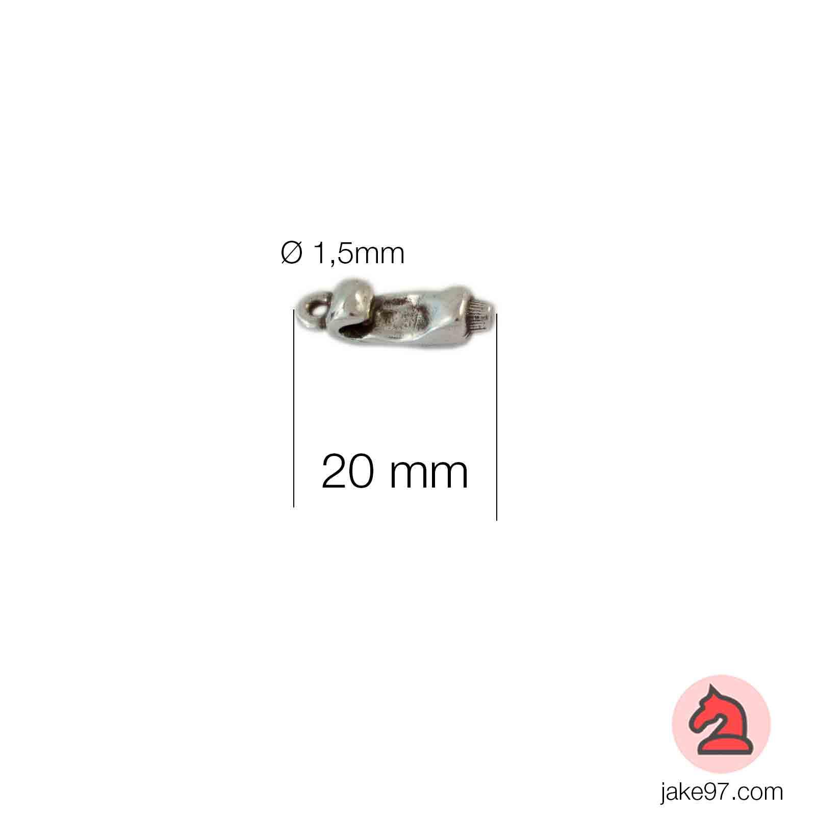 Charm dentífrico - Venta en bolsa de 30 unidadesTamaño aproximado 20mm, anilla 1.5mm