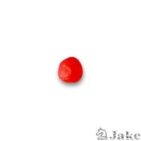 Resina redonda aguas blancas rojo 8 mm | Cuentas de Resina - Paquete de 5 unidades