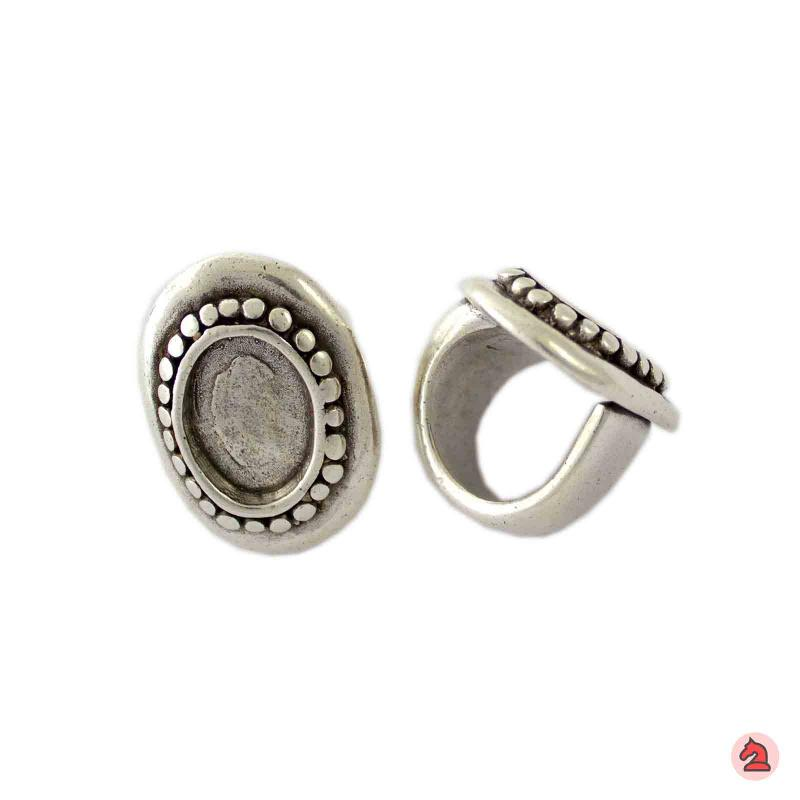 Anillo ajustable 34X25 mm. Camafeo ovalado