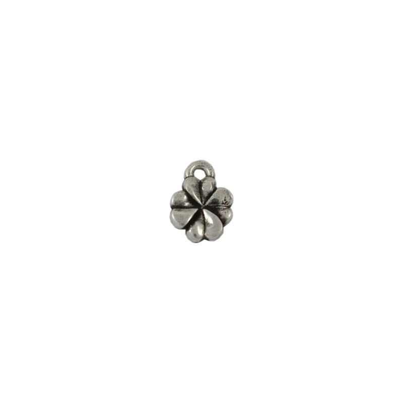 Charm trébol 10 mm, anilla 1,5 mm