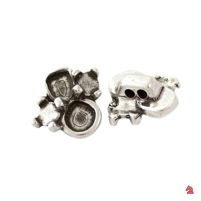 Pasador adorno con varias muescas para 3 mm - Paquete de 10 unidadesTamaño aproximado 25 mm