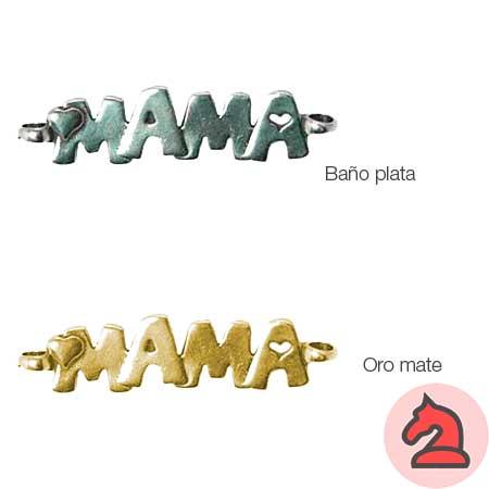 Entrepieza MAMA texto 44X12mm, 2 anillas 3,5mm - Paquete de 15 unidades