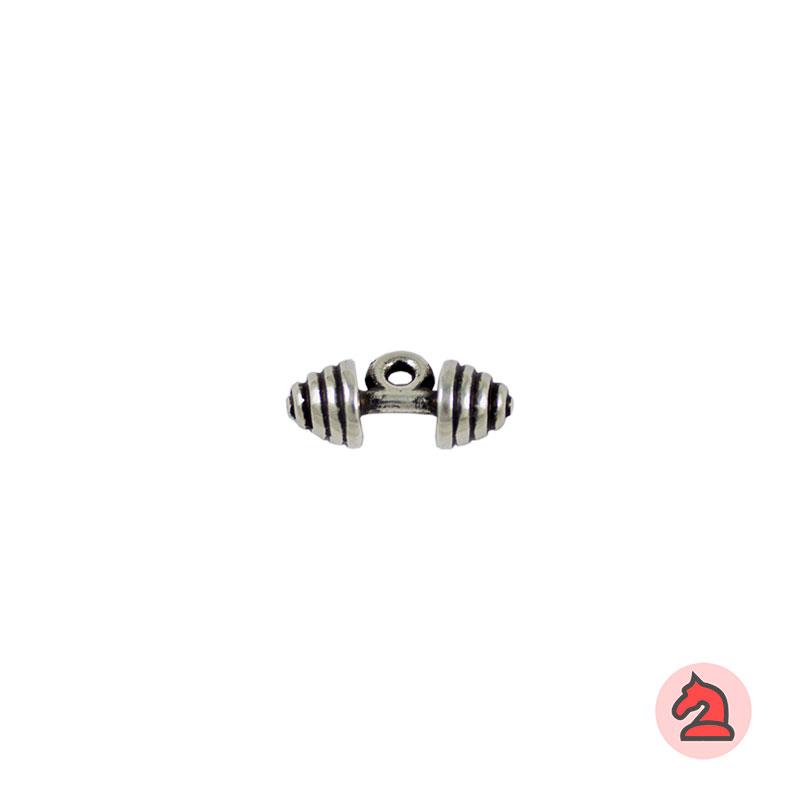 Charm mancuernas - Venta en bolsa de 30 unidadesTamaño 19 mm, Anilla 2 mm