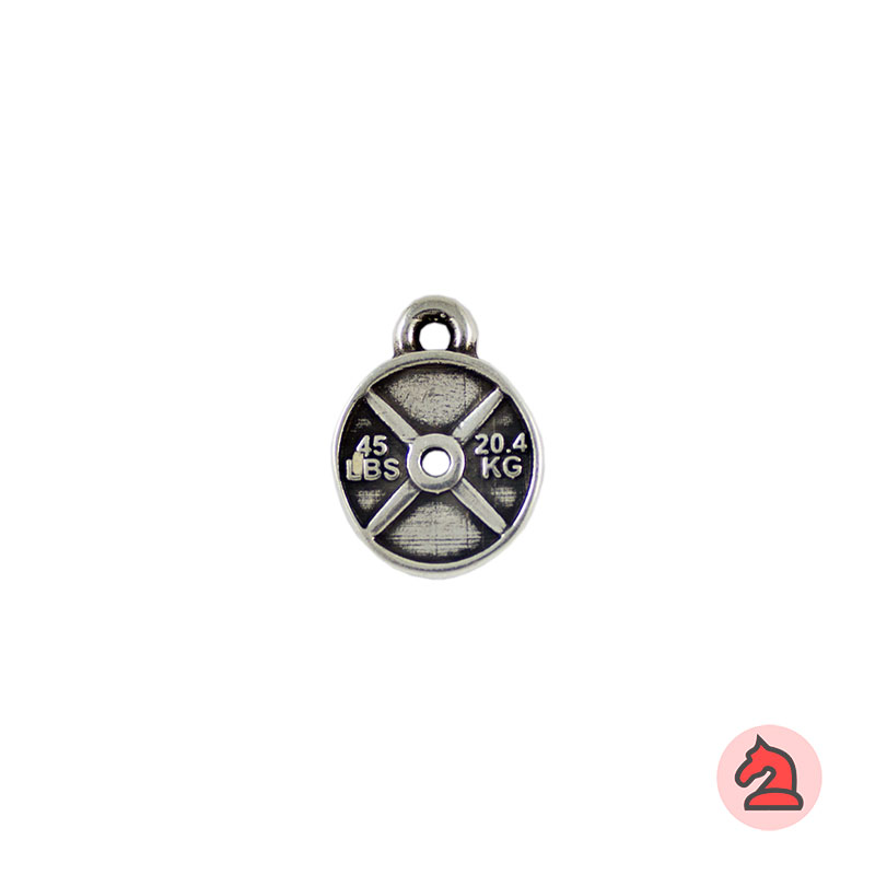 Charm disco pesa - Venta en bolsa de 30 unidadesTamaño 14 mm, Anilla 2 mm