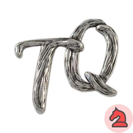 Colgante TQ - Venta en bolsa de 5 unidadesTamaño aprox 46X46mmMaterial de zamak con 5 micras de plata
